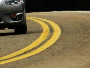 car on curve